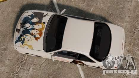 Nissan Silvia S14 для GTA 4 вид сзади