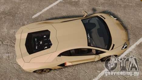 Lamborghini Aventador LP700-4 2012 v2.0 для GTA 4 вид справа
