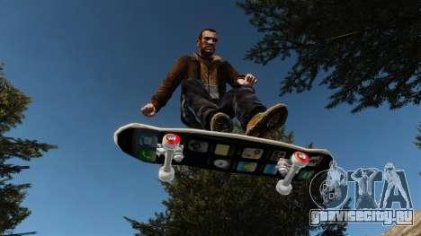 Скейтборд iPhone для GTA 4 вид сзади