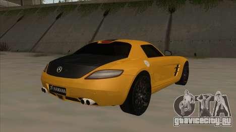Mercedes SLS AMG Hamann 2010 V1.0 для GTA San Andreas вид справа