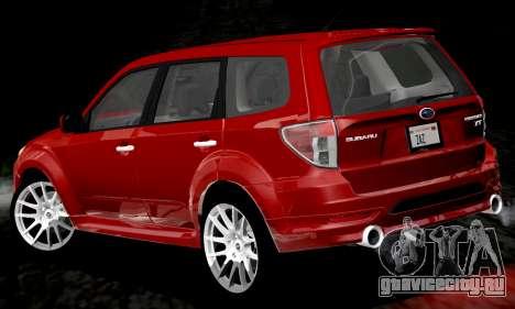 Subaru Forester RRT Sport 2008 v2.0 для GTA San Andreas вид снизу