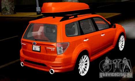 Subaru Forester RRT Sport 2008 v2.0 для GTA San Andreas вид справа