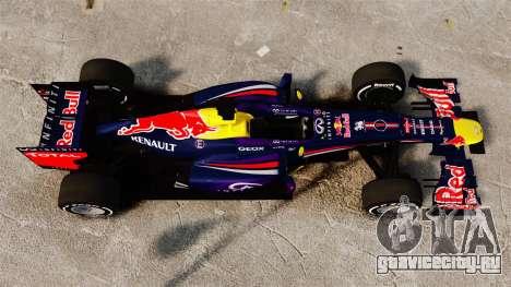 Болид Red Bull RB9 v4 для GTA 4 вид справа