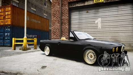 BMW M3 E30 Cabrio Stanced для GTA 4 вид сзади слева