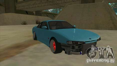 Nissan Silvia s14 Kouki Hellaflush для GTA San Andreas вид слева