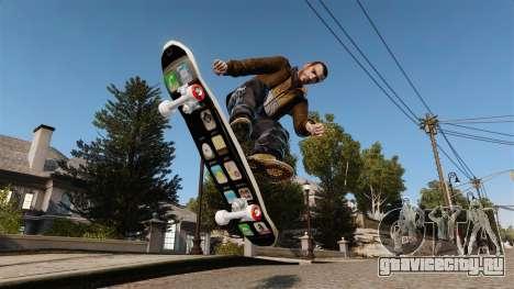 Скейтборд iPhone для GTA 4 вид сзади слева