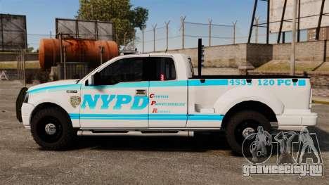 Ford F-150 v3.3 NYPD [ELS & EPM] v1 для GTA 4 вид слева