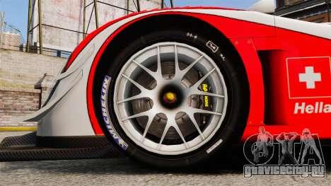 Porsche RS Spyder Evo для GTA 4 вид сзади