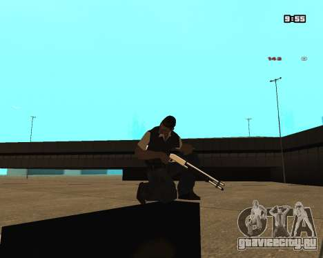 White Chrome Shotgun для GTA San Andreas второй скриншот