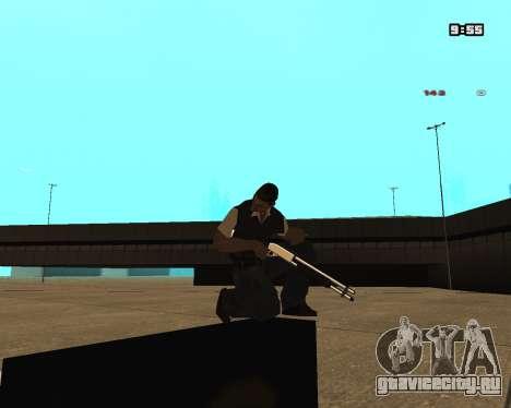 White Chrome Shotgun для GTA San Andreas второй скриншот