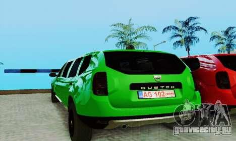 Dacia Duster Limo для GTA San Andreas вид слева