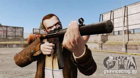 Пистолет-пулемёт MP5SD v2 для GTA 4 третий скриншот