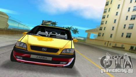 Opel Zafira для GTA Vice City вид слева