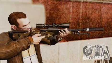 Снайперская винтовка AW L115A1 с глушителем v10 для GTA 4