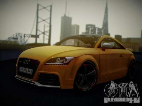Audi TT RS 2013 для GTA San Andreas вид сзади