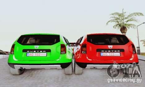 Dacia Duster Limo для GTA San Andreas вид справа