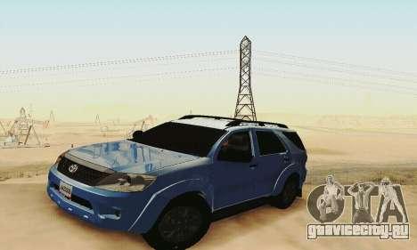 Toyota Fortuner Original 2013 для GTA San Andreas вид изнутри