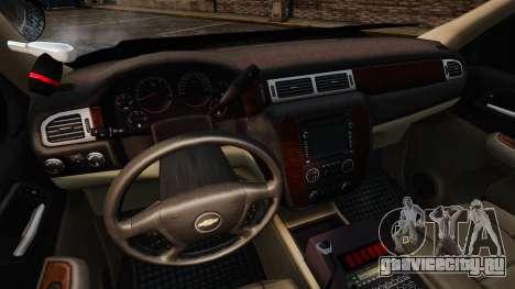 Chevrolet Tahoe 2008 Unmarked ELS для GTA 4 вид сзади