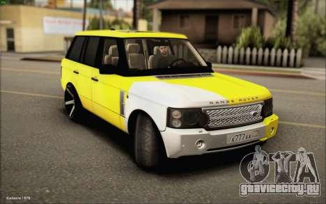 Land Rover Range Rover Gold Vossen для GTA San Andreas вид сзади слева