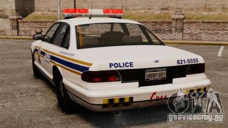 Полиция Шербрука для GTA 4 вид сзади слева