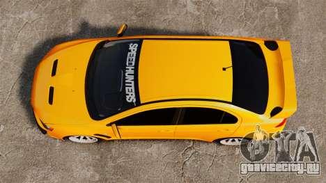 Mitsubishi Lancer Evolution X для GTA 4 вид справа
