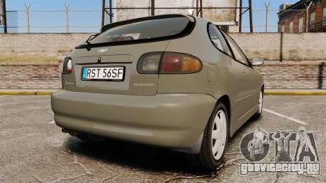 Daewoo Lanos FL 2001 для GTA 4 вид сзади слева