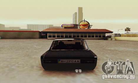 ВАЗ 2106 Зелёнка для GTA San Andreas вид справа