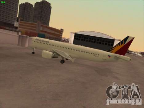 Airbus A320-211 Philippines Airlines для GTA San Andreas вид сзади слева