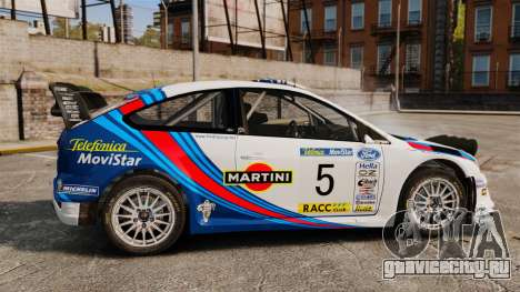 Ford Focus RS Martini WRC для GTA 4 вид слева