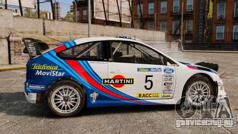 Ford Focus RS Martini WRC для GTA 4 вид слева