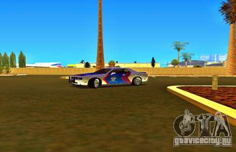 Dodge Challenger Indonesian Police для GTA San Andreas вид справа