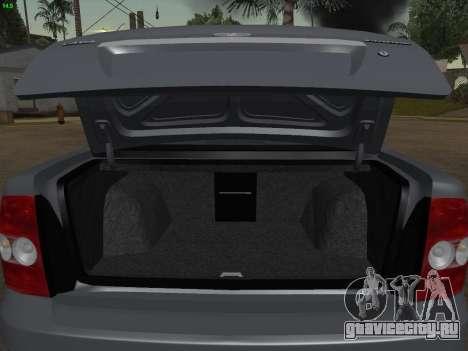 ВАЗ 2170 для GTA San Andreas двигатель