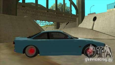Nissan Silvia s14 Kouki Hellaflush для GTA San Andreas вид сзади слева