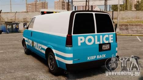 LCPD Police Van для GTA 4 вид сзади слева