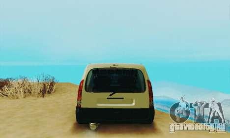 Renault Kangoo для GTA San Andreas вид справа
