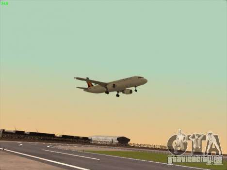 Airbus A320-211 Philippines Airlines для GTA San Andreas вид сзади