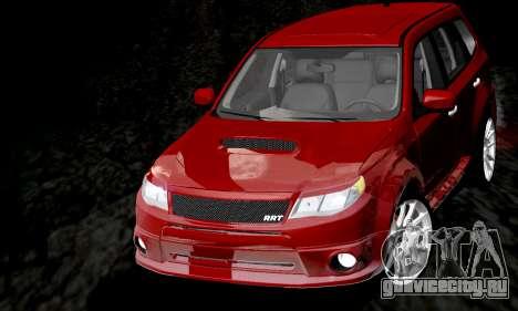 Subaru Forester RRT Sport 2008 v2.0 для GTA San Andreas вид сверху