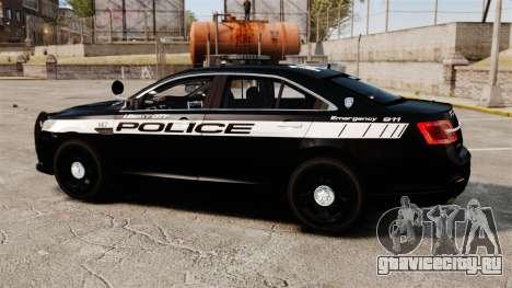 Ford Taurus Police Interceptor 2013 LCPD [ELS] для GTA 4 вид слева
