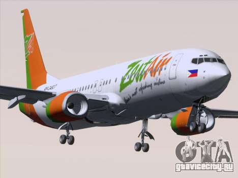 Boeing 737-800 Zest Air для GTA San Andreas вид снизу