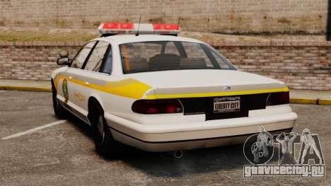 Полиция Квебека для GTA 4 вид сзади слева