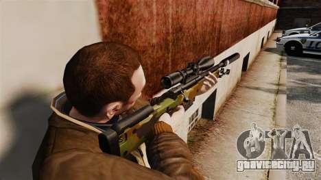 Снайперская винтовка AW L115A1 с глушителем v8 для GTA 4 второй скриншот