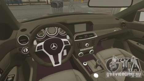 Mercedes-Benz C63 AMG BSAP (C204) 2012 для GTA 4 вид изнутри
