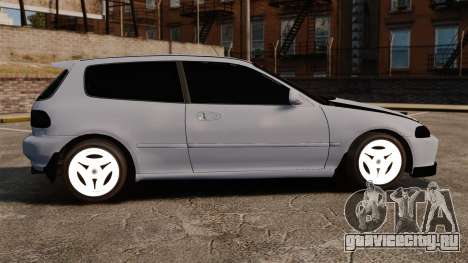 Honda Civic Gtaciyiz для GTA 4 вид слева