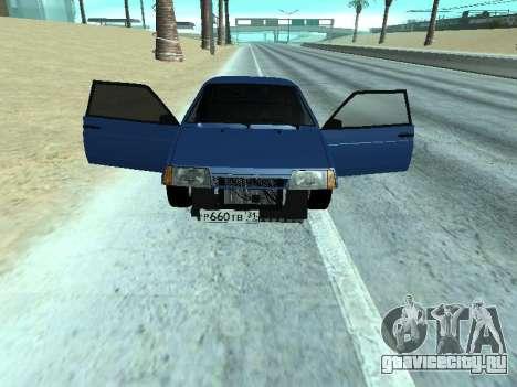 ВАЗ 2108 Синяя дюжина для GTA San Andreas вид сзади слева