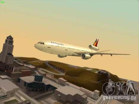 McDonell Douglas DC-10 Philippines Airlines для GTA San Andreas вид сбоку