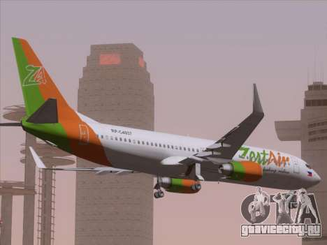 Boeing 737-800 Zest Air для GTA San Andreas вид сбоку