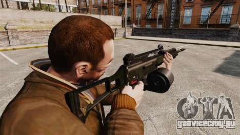 Штурмовая винтовка H&K MG36 v2 для GTA 4 второй скриншот