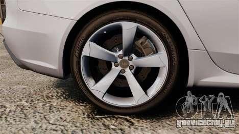Audi RS4 Avant 2013 Sport v2.0 для GTA 4 вид сзади