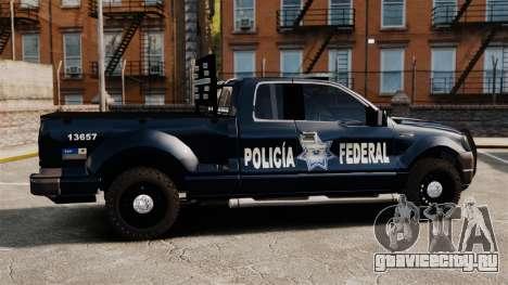 Ford F-150 De La Policia Federal [ELS & EPM] v3 для GTA 4 вид слева