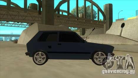 Zastava Yugo 1.1 для GTA San Andreas вид сзади слева